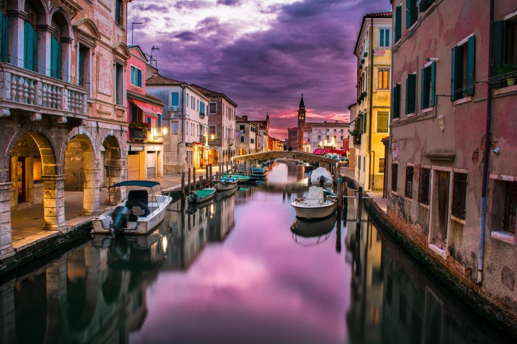 Italy's Venetian canals. Enjoy the beauty of Italy when you apply for a new passport.
